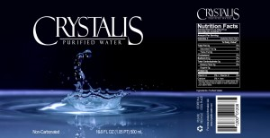 Crystalis Water Label